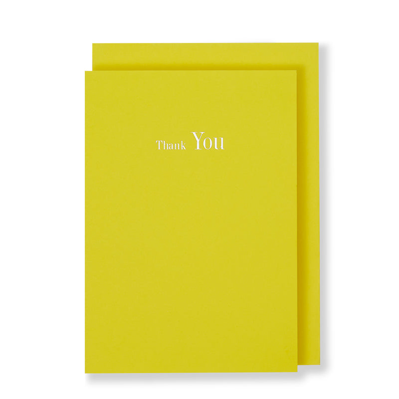 Thank You Greeting Card in Yellow, Front