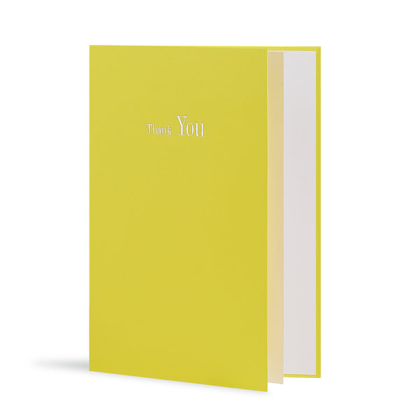 Thank You Greeting Card in Yellow, Side