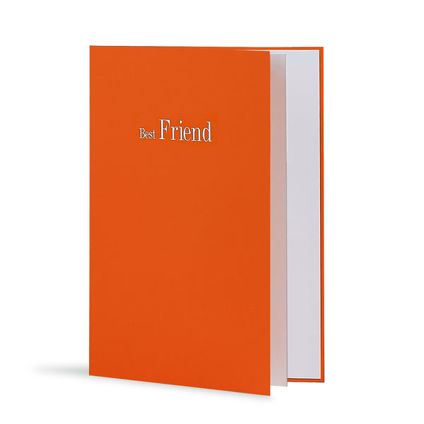 Best Friend Greeting Card in Orange, Side