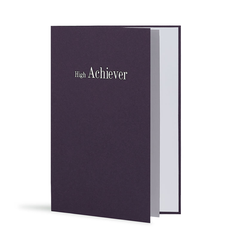 High Achiever Greeting Card in Deep Purple, Side