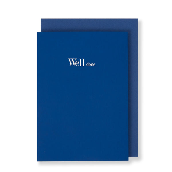 Well Done Greeting Card in Royal Blue, Front
