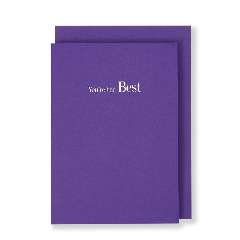 You're The Best Greeting Card in Warm Purple, Front