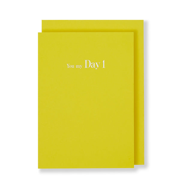 You My Day  Greeting Card in Yellow, Front