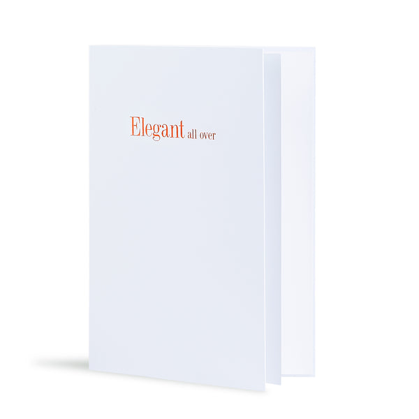 Elegant All Over Greeting Card in White, Side