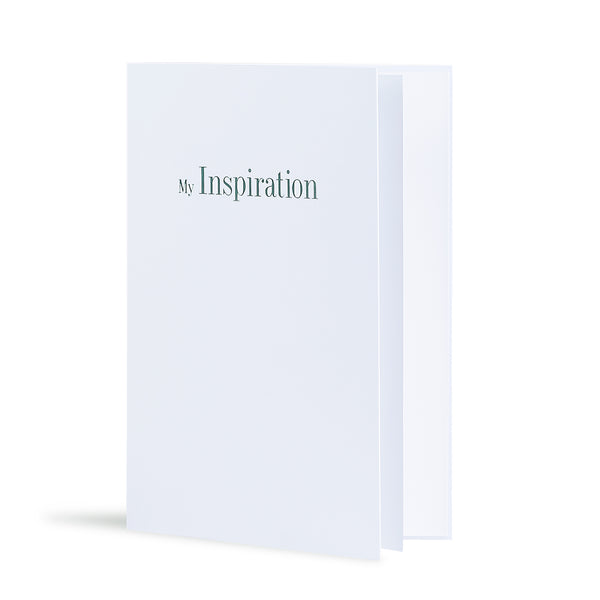 My Inspiration Greeting Card in White, Side