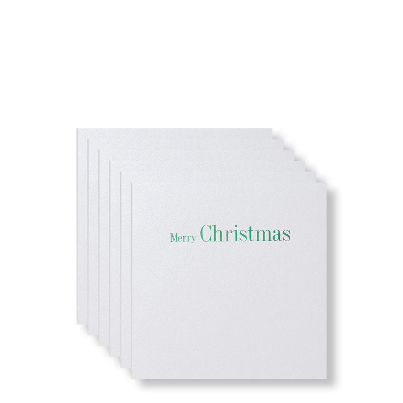 Merry Christmas Green Foiled Mini Cards-Story of Elegance