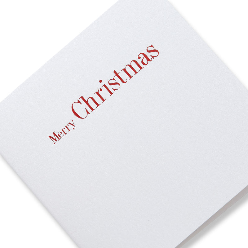 Merry Christmas Red Foiled Mini Cards-Story of Elegance