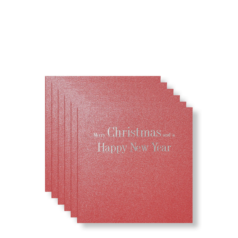 Christmas and New Year Silver Foiled Mini Cards, Front | Boxed Set of 6 | Story of Elegance