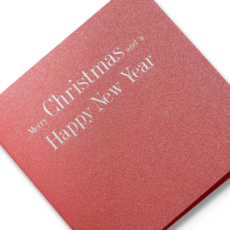 Christmas and New Year Silver Foiled Mini Cards, Detail | Boxed Set of 6 | Story of Elegance