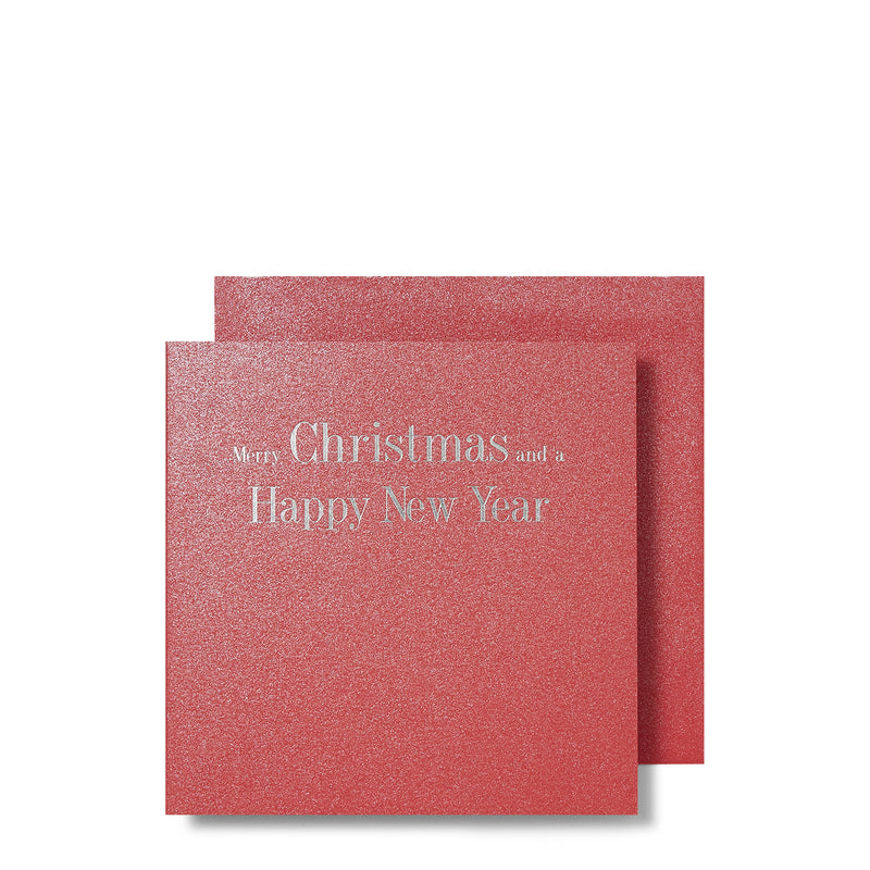 Christmas and New Year Silver Foiled Mini Cards, with Envelope | Boxed Set of 6 | Story of Elegance