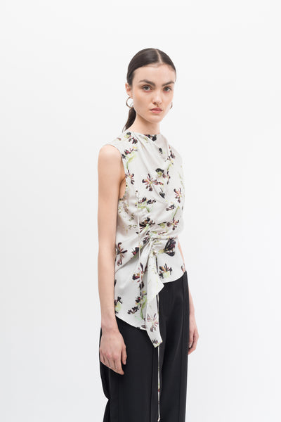 Honeysuckle Silk Sleeveless Top