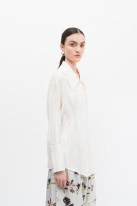 Oversize Collar Cream Shirt