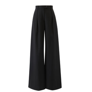 Deep Pleat Wide Leg Trouser