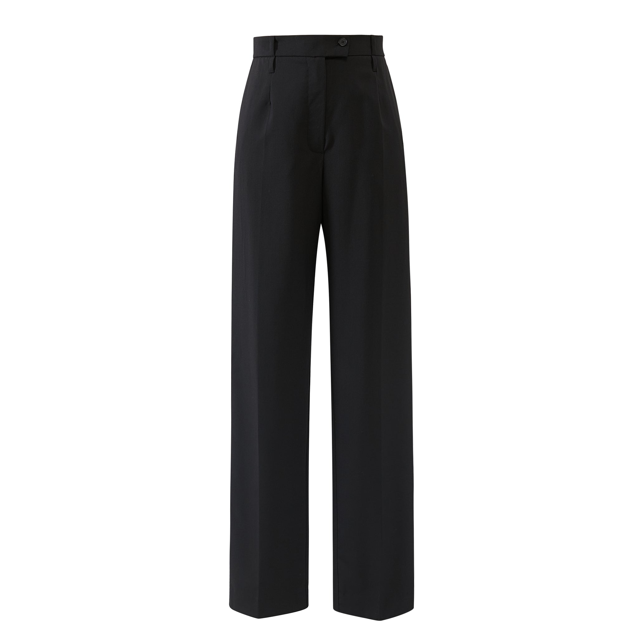 Classic high waisted tailored pants