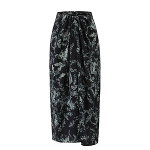 Gather Drape Front Skirt