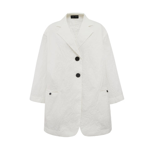 Oversize Crush Cotton Blazer