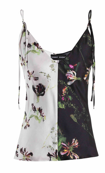 Mix Honeysuckle Print Strap Top