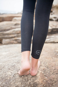 BondiEco bamboo, organic cotton, leggings.  High waisted, slimming, with pockets. Perfect for yoga and pilates.