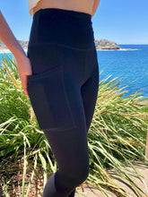 Load image into Gallery viewer, BondiEco bamboo, organic cotton, leggings.  High waisted, slimming, with pockets. Perfect for yoga and pilates.