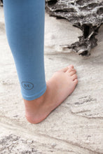 Load image into Gallery viewer, BondiEco Bamboo, organic cotton, leggings.  Light Blue. High waisted, slimming. Perfect for yoga and pilates.