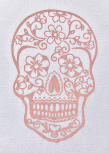 BondiEco Long sleeve luxe modal t-shirt with subtle rose sugar skull print.