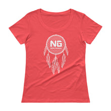 Load image into Gallery viewer, Dreamcatcher Ladies' Scoopneck T-Shirt