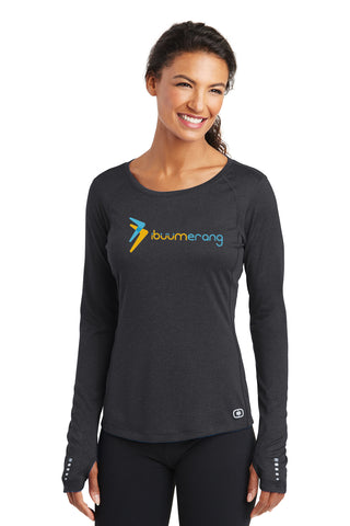 Endurance Long Sleeve Pulse Crew Ladies (Black)