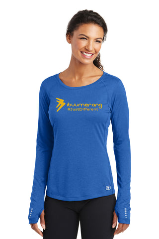 ENDURANCE Ladies Long Sleeve Pulse Crew (Blue)