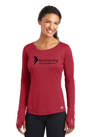 ENDURANCE Ladies Long Sleeve Pulse Crew (Red)