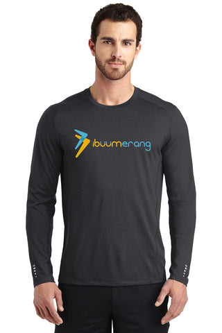 Endurance Mens Long Sleeve Pulse Crew (Black)