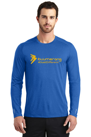 Endurance Mens Long Sleeve Pulse Crew (Blue)