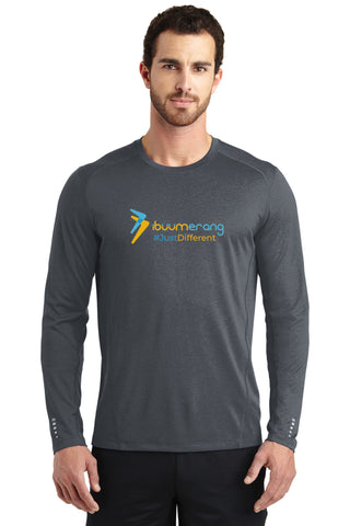 Endurance Mens Long Sleeve Pulse Crew (Grey)