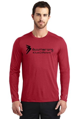 Endurance Mens Long Sleeve Pulse Crew (Red)