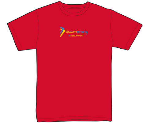 Premium iBuumerang Full Color Logo Red Shirt (Women)
