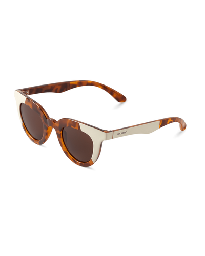 MR. BOHO Hayes Cream/Leo Tortoise