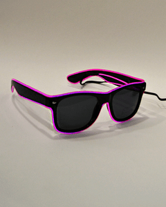 Gafas LED rosa