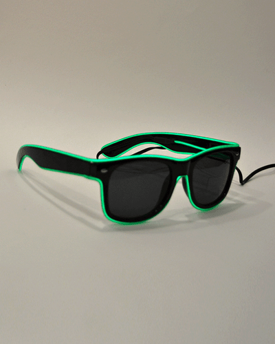 Gafas LED verde