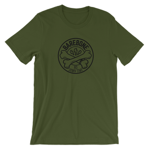 "Bones ""No Down Time"" Tee - Green - Front & Center"
