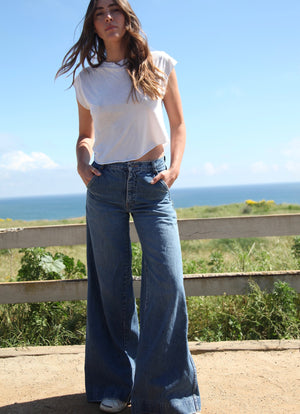 Vintage Denim Sailor Pant