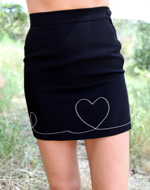 Vintage Moschino Heart Skirt