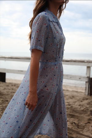 Antique Sheer Blue Stare Dress