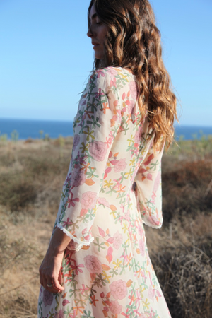 Chasserese Dress in Dusty Rose
