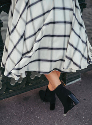 Vintage Plaid Tulle Skirt