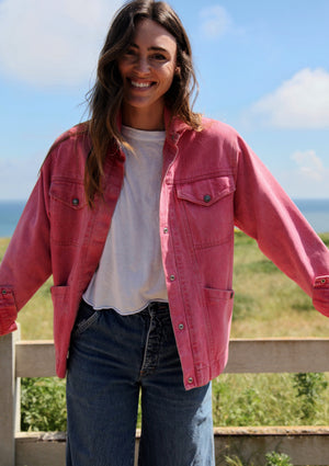 Vintage Pink Denim Jacket