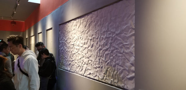 Cement Panels - Pleat Paper Outlook Made of Resin