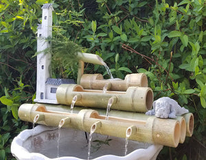 DryInsta Bamboo Water Fountain with Pump for Patio Style G - Dryinsta