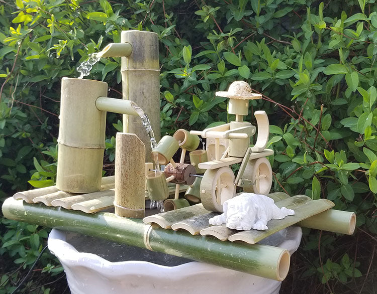 DryInsta Bamboo Water Fountain with Pump for Patio Style C - Dryinsta