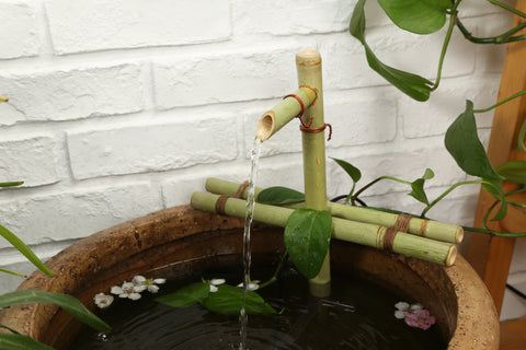 DryInsta Bamboo Water Fountain with Pump for Patio Simple Style A - Dryinsta