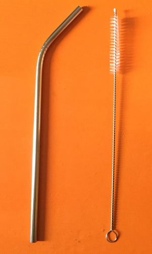 Stainless Steel Straw and Cleaning Brush
