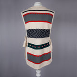 1970s vintage striped tabard
